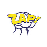 Zap With Lightnings Comic Speech Bubble