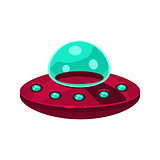 Flying Saucer Toy Aircraft Icon