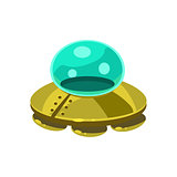 UFO Toy Aircraft Icon