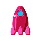 Pink Spaceship Toy Aircraft Icon
