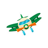 Biplane Toy Aircraft Icon