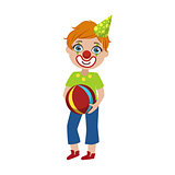 Boy In Clown Make Up