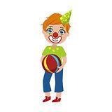 Boy In Clown Make Up