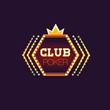 Crowned Poker Club Neon Sign