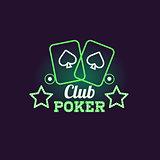 Green Poker Club Neon Sign