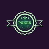 Doble Frame Green Poker Club Neon Sign
