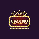 Yellow Casino Square Neon Sign