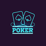 Poker Blue Neon Sign