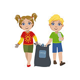 Kids Collecting Garbage