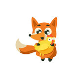 Fox Holding Chicken