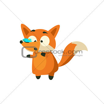 Fox With Butterfly On The Nose