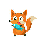 Fox With The Fish