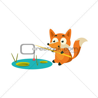Fox Fishing With A Rod
