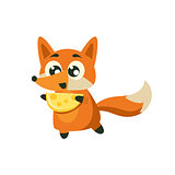 Fox Holding Piece Of Cheese