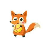 Fox Playing Ball