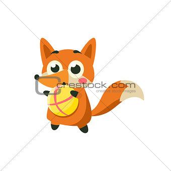 Fox Playing Ball