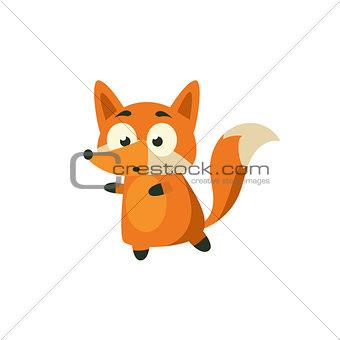 Fox Carefully Walking Away