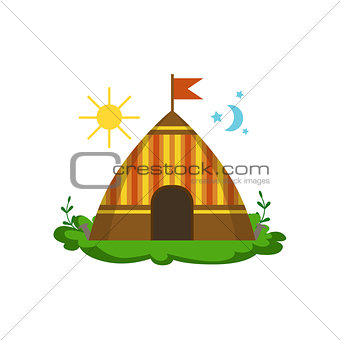 Camping Wigwam In Forest