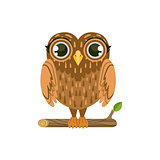 Owl Friendly Forest Animal
