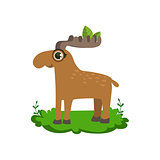 Moose Friendly Forest Animal