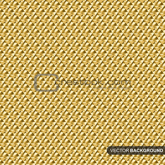 Abstract gold geometric pattern.