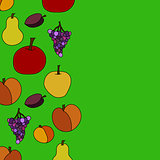 hand drawn vector fruit background