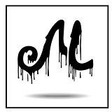 Melted grunge font