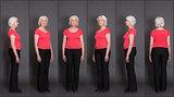 Senior woman collage