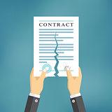 Contract termination concept.