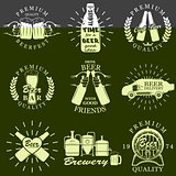 Vintage craft beer brewery emblems