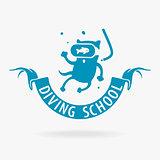 Vector Symbol Cat Diver