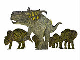 Pachyrhinosaurus Dinosaur with Young