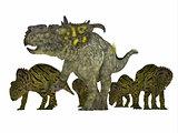 Pachyrhinosaurus Dinosaur with Young