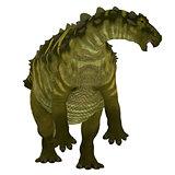 Talarurus Dinosaur over White
