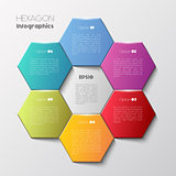 Geometric hexagon infographic concept