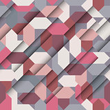 Seamless abstract paper geometric pattern