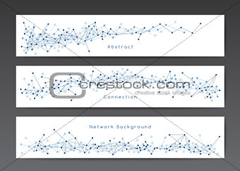 Abstract network banner templates