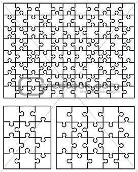 three white puzzles