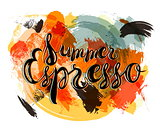 Summer Espresso Lettering