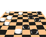 Desk game of checkers