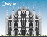 Duomo. Milan. Italy. Vector Illustration.