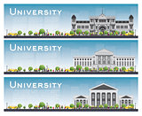 Set of university study banners. Vector illustration.