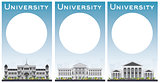 Set of university study banners with copy space.