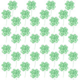 Pattern with watercolor clover.