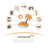 Vacation Time and Tourism Concept