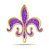 Golden and purple fleur-de-lis