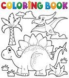 Coloring book dinosaur theme 1