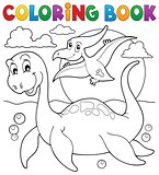 Coloring book dinosaur theme 7