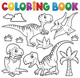 Coloring book dinosaur theme 8