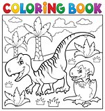 Coloring book dinosaur theme 9